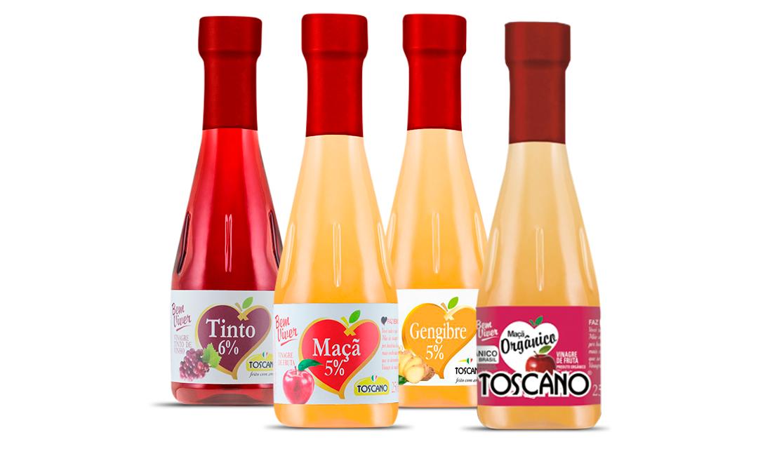 Linha de Vinagres Bem-Viver Toscano Alimentos