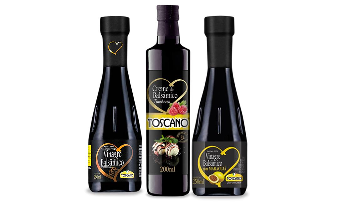 Linha de Vinagres Gourmet Toscano Alimentos
