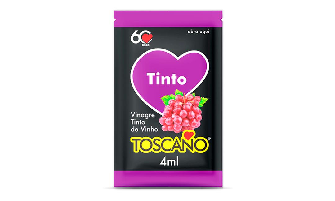 Vinagre de Vinho Tinto 4ml - Sachê Toscano