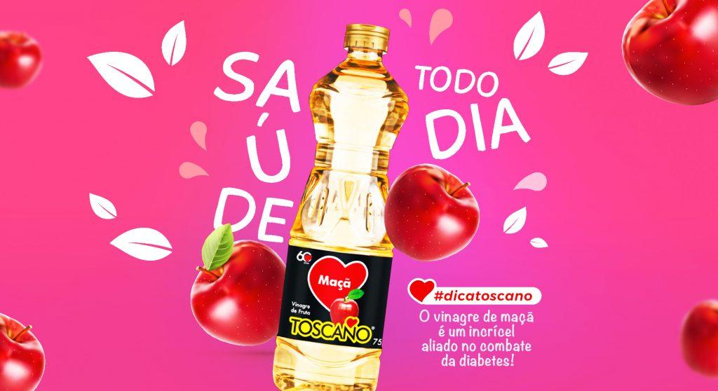 Vinagre de Maçã 750ml - Saúde Todo Dia Toscano