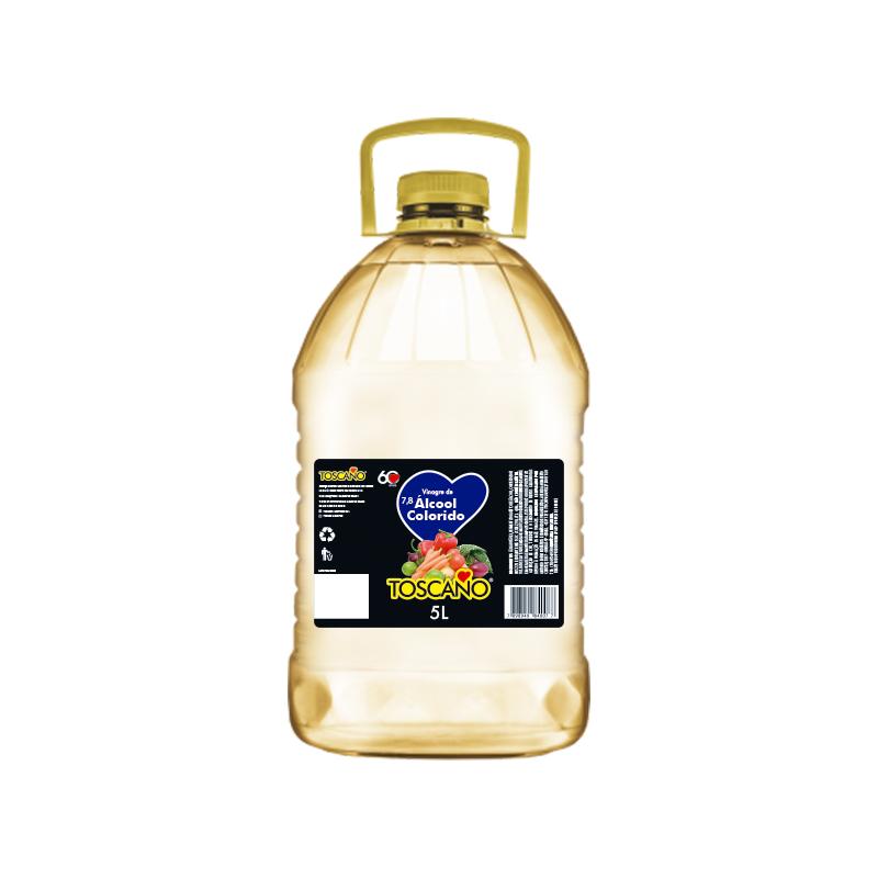 Vinagre de Alcool Colorido - 5L Toscano